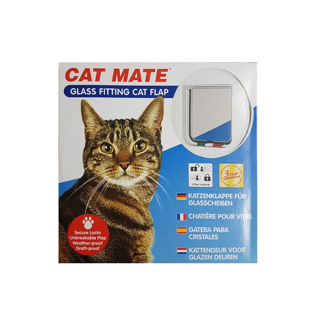 Glass Fitting Cat Flap White Mb Diy