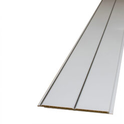Decorceil Gloss White Chrome V Groove Ceiling Cladding