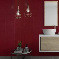 Ruby Red Mosaic Effect Wall Panel