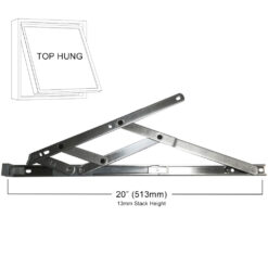 Yale Securistyle Top Hung Restricted Friction Hinge 20inch / 13mm stack