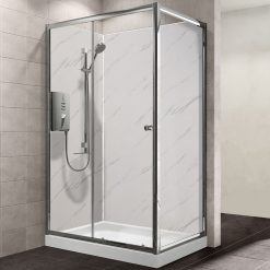 MB XL Carrera White Shower Panel